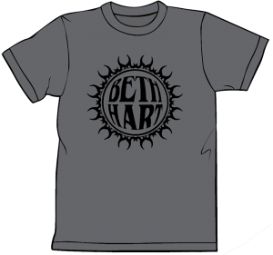Beth Hart Charcoal Grey Logo Tee Shirt