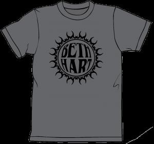 Beth Hart Charcoal Grey Logo Tee Shirt