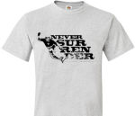 Mike Trapp Snowboarding Never Surrender Tee Shirt